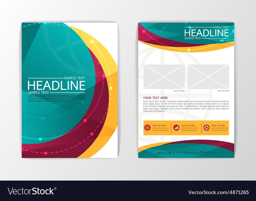 Abstract curve Brochure Flyer design