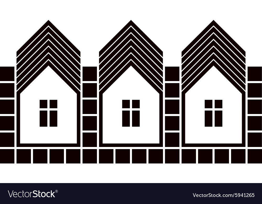 Abstract simple country houses homes image vector image