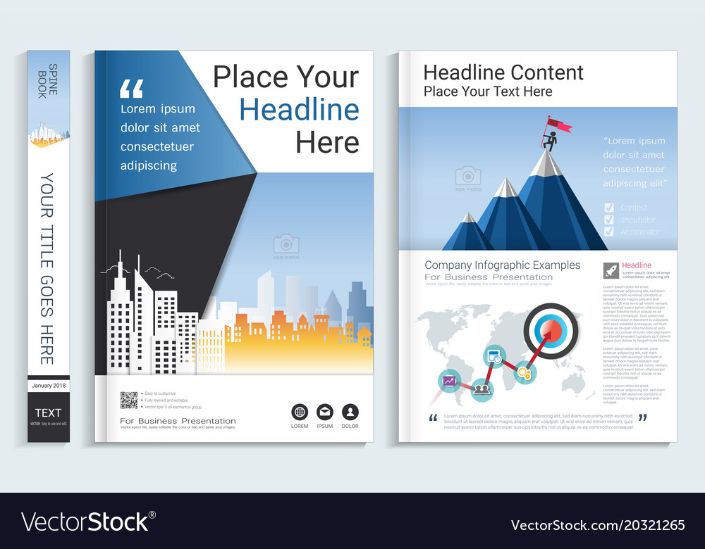 cover book design template royalty free vector image