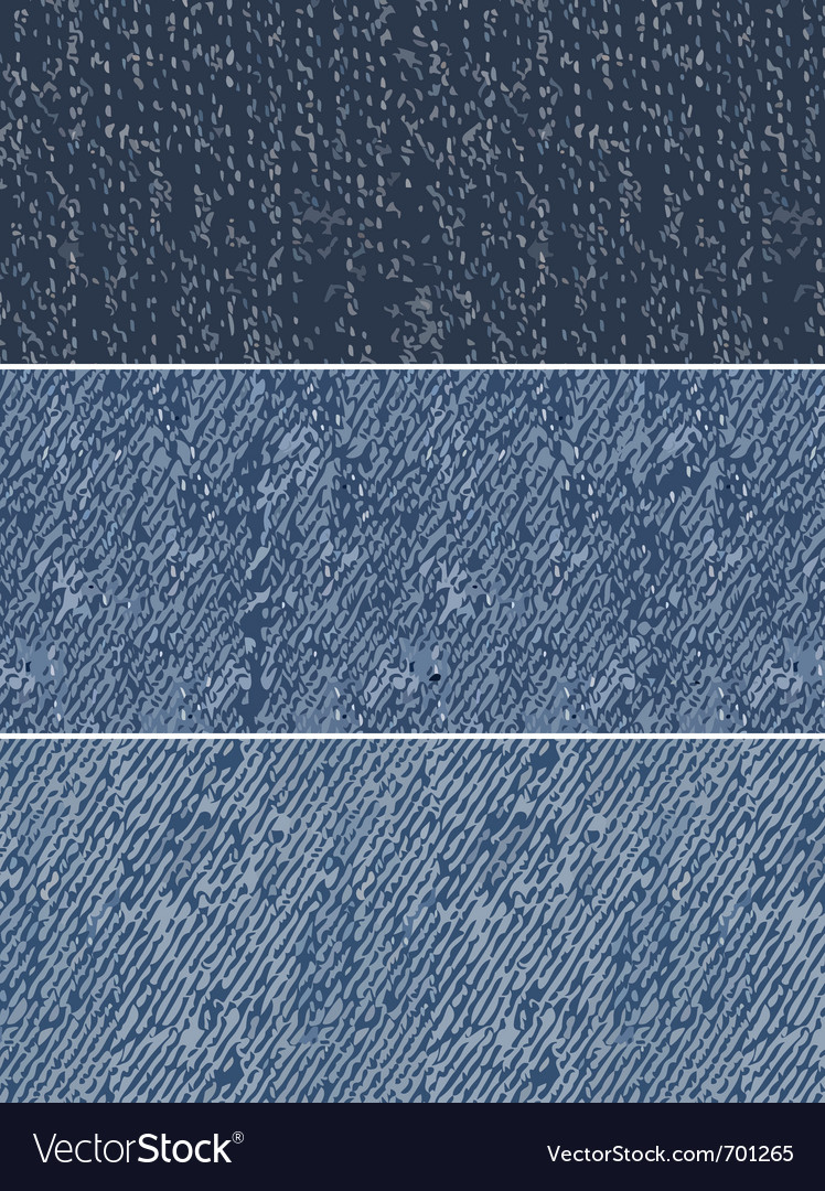 Denim swatches vector image