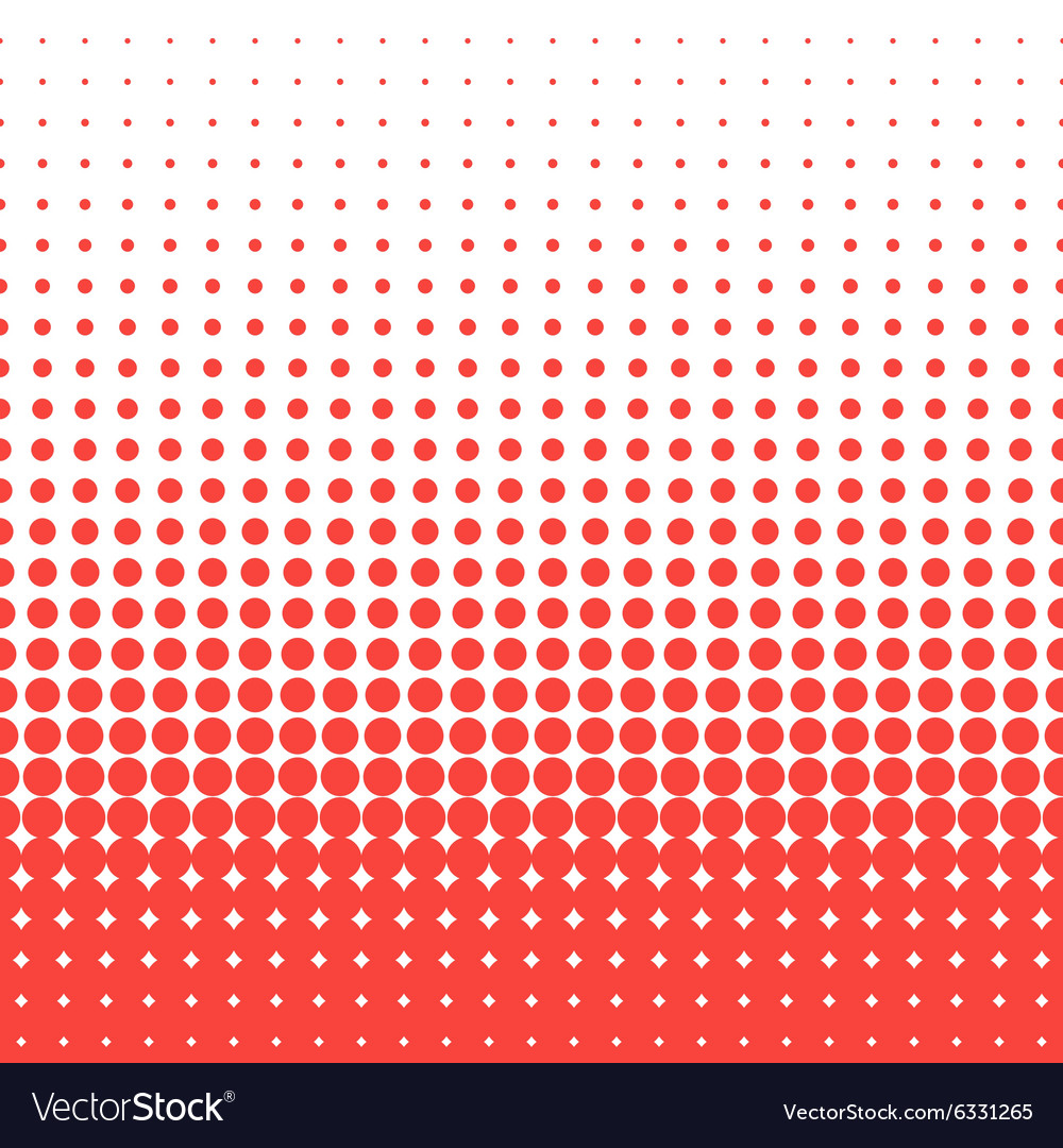 Dots halftone red