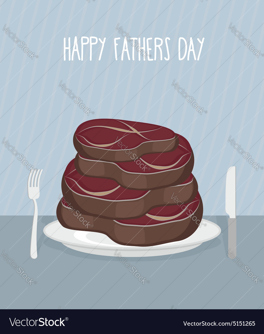 Fathers day Bunch of delicious mouth-watering beef vector image