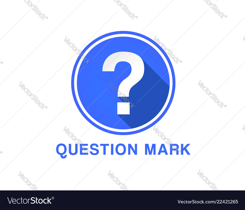 Flat icon of question mark question mark button