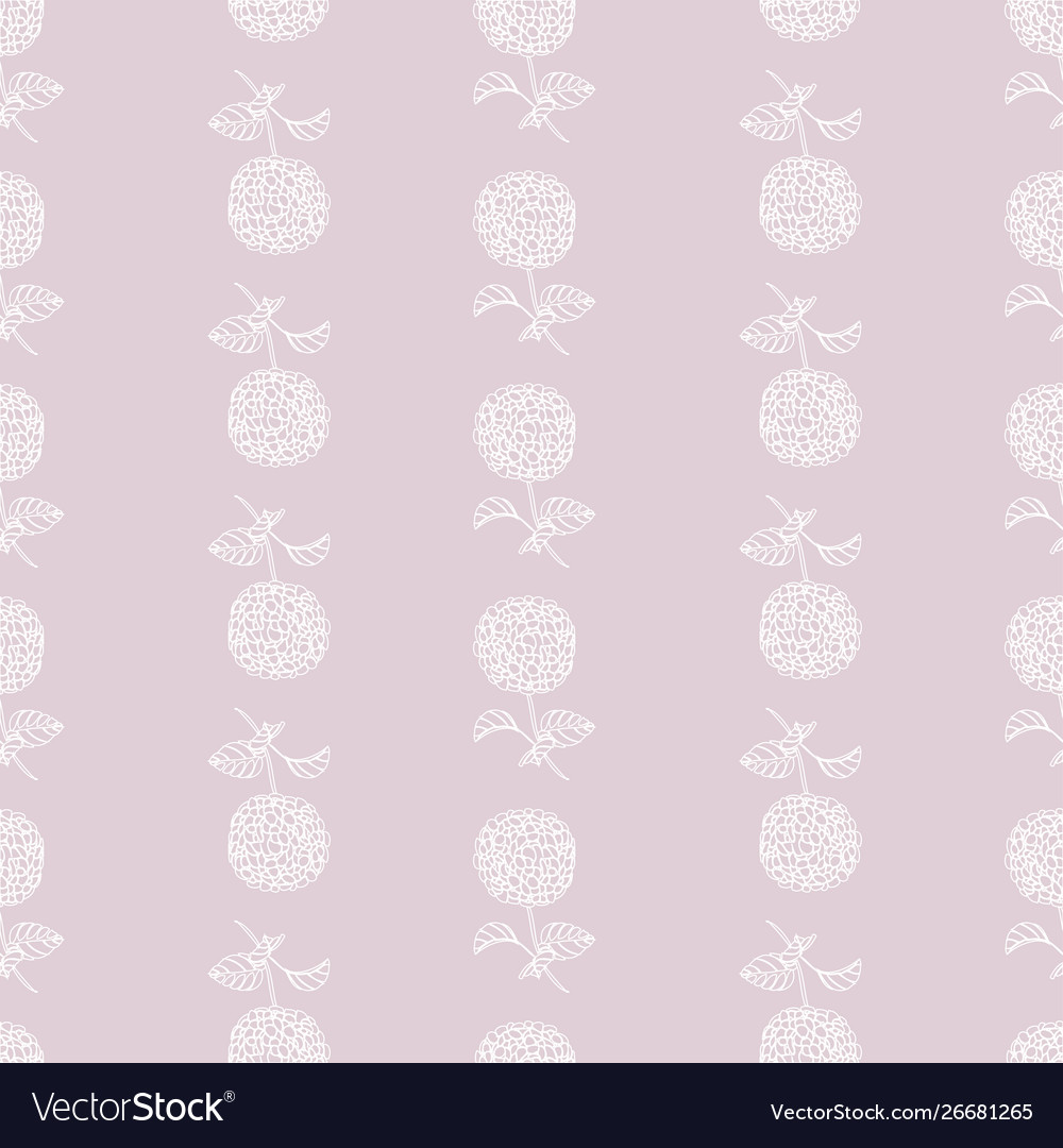 Floral beautiful seamless pattern-hydrangea
