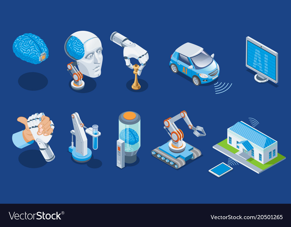 Isometric artificial intelligence set