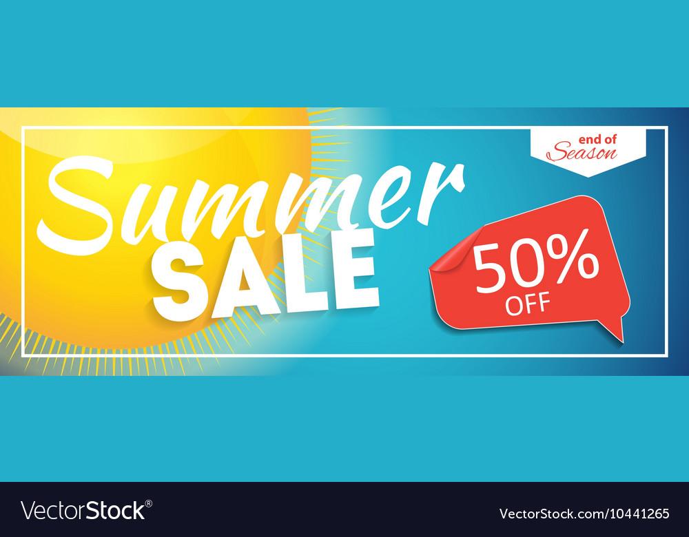 Summer Sale end of Season Banner Business