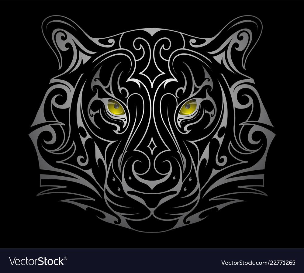 Tiger head tattoo shape