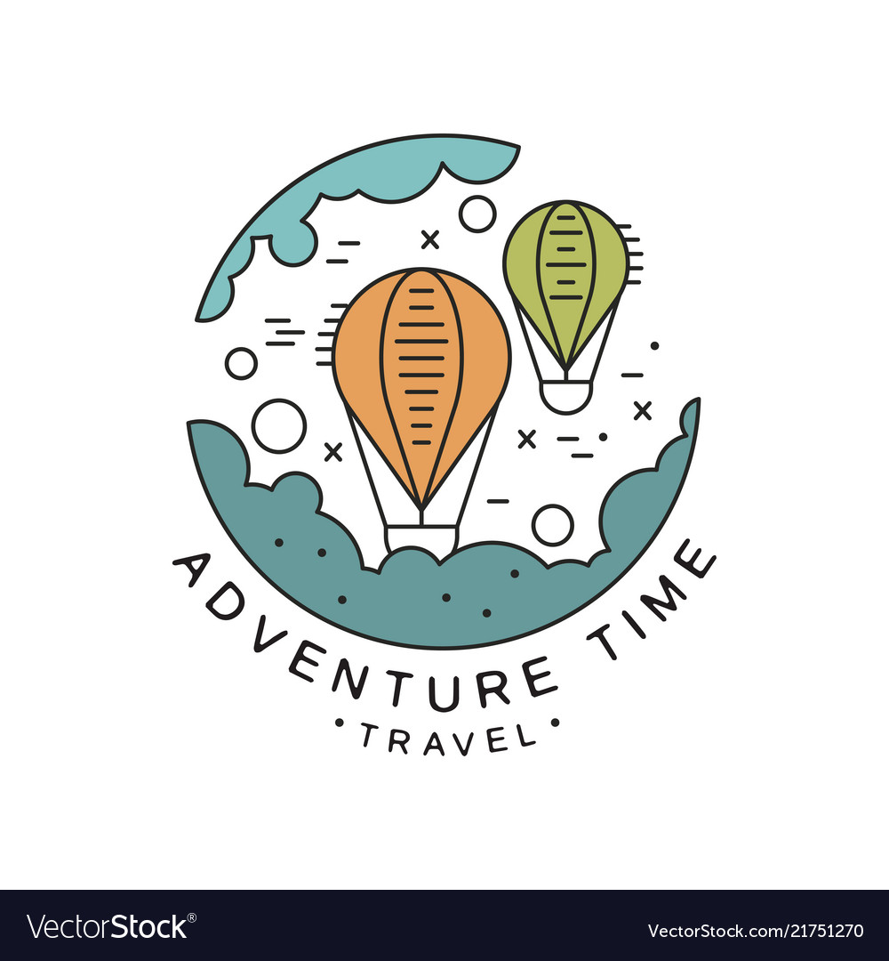 Adventure time logo design travel tourism