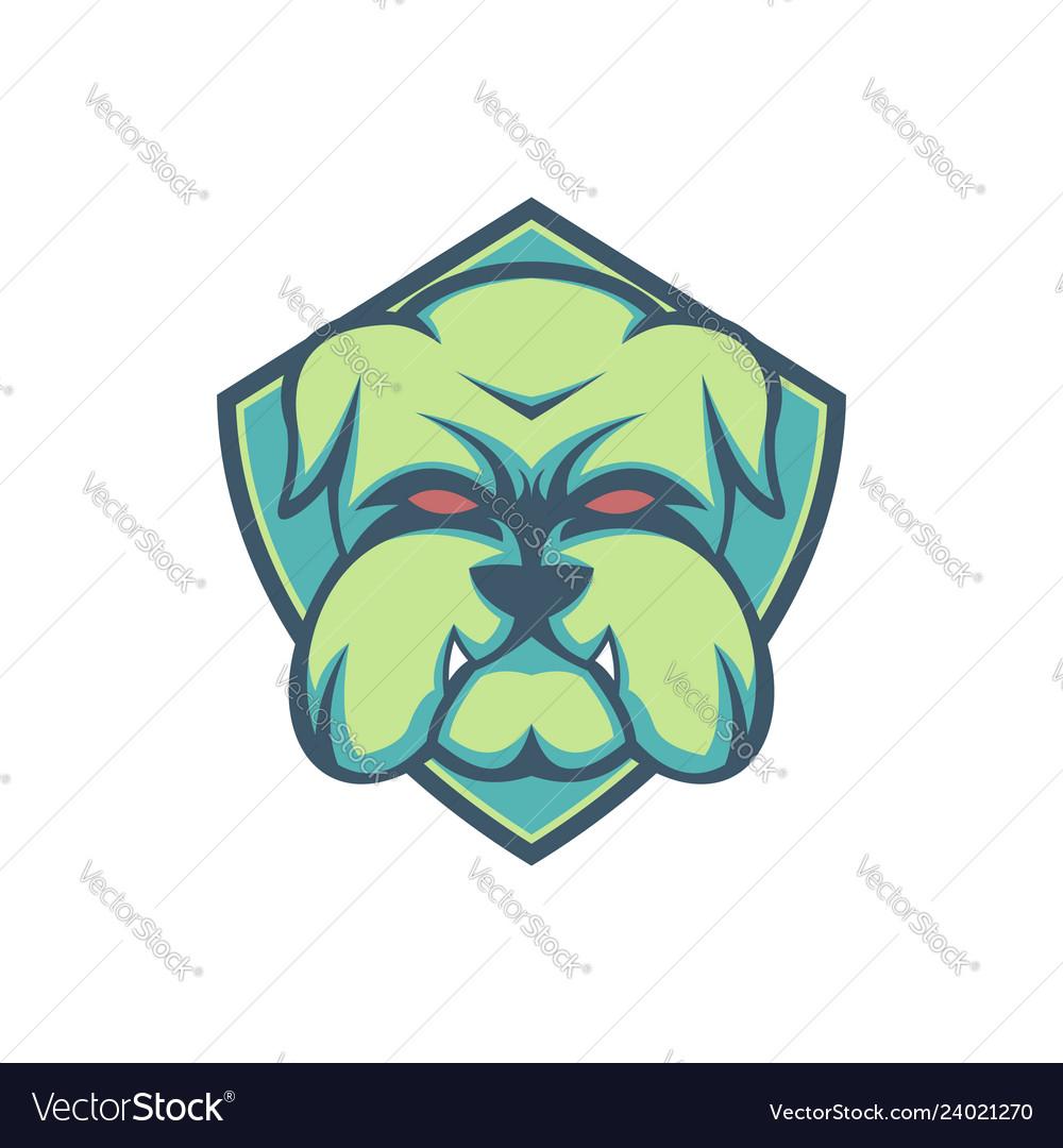 Bulldog green shield