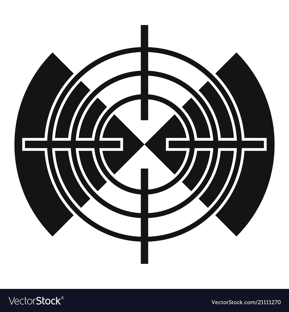 cross gun aim icon simple style royalty free vector image vectorstock