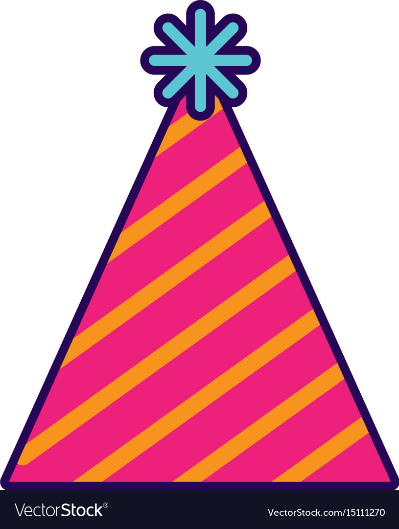 cute party hat cartoon royalty free vector image