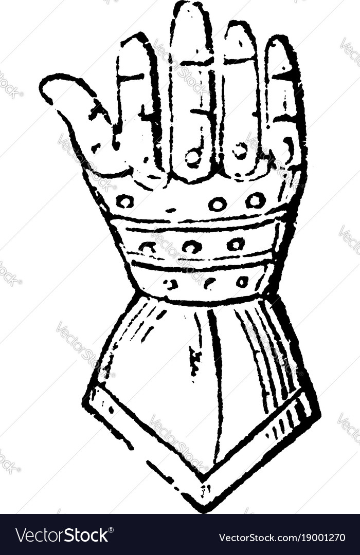 Gauntlet have armour for the hand vintage