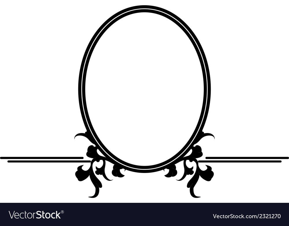 Mirror design vector image
