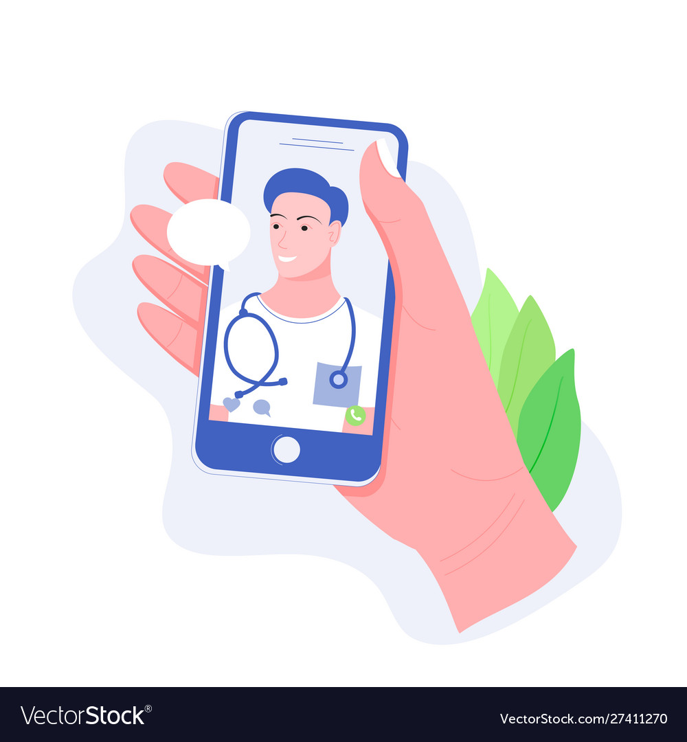 Online doctor medical and health care concept