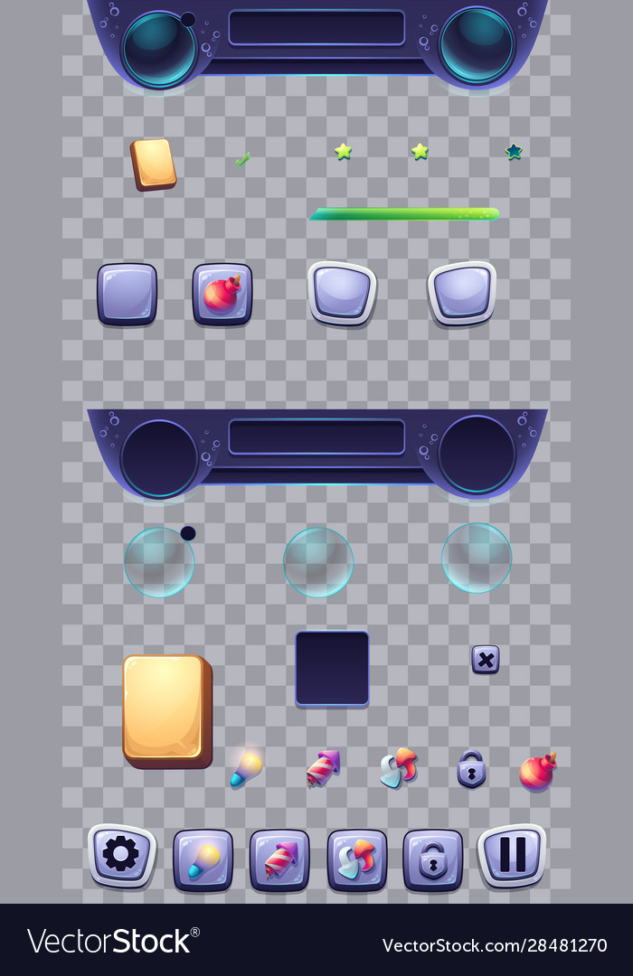 Set buttons on a transparent background