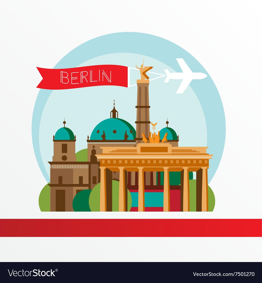 Silhouette berlin germany city skyline