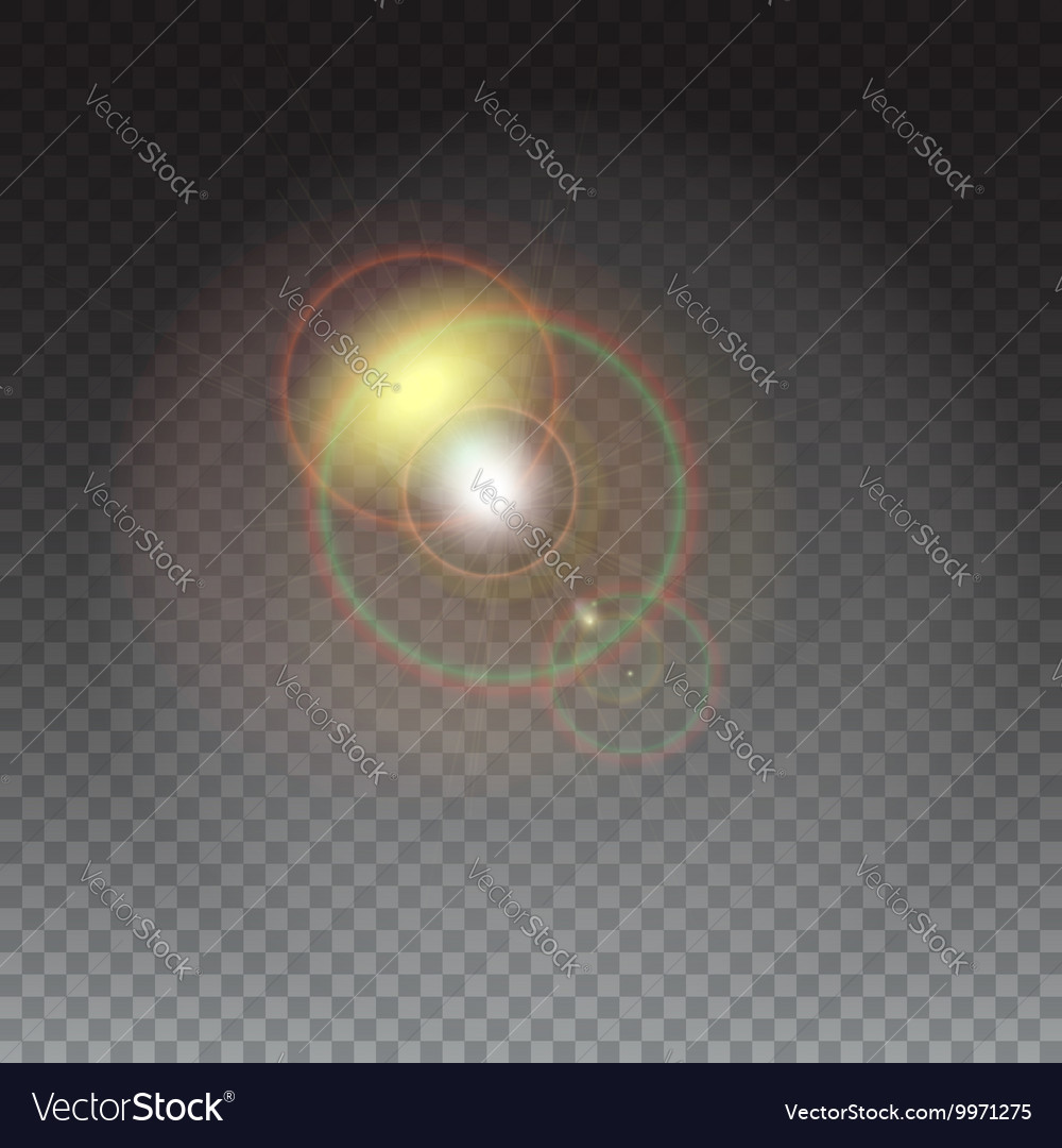 Abstract glowing ring vector image
