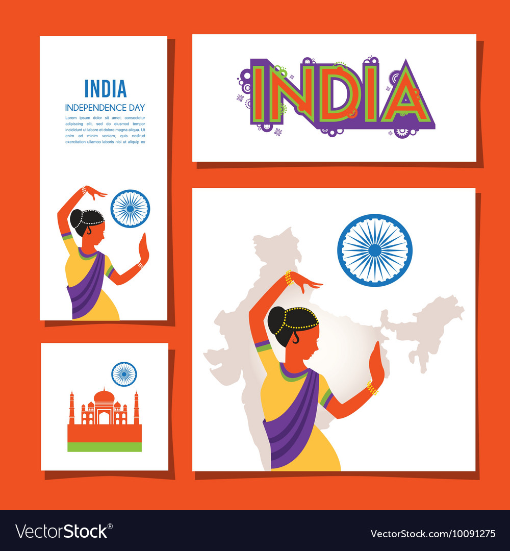 Cards set designs and brochures of India