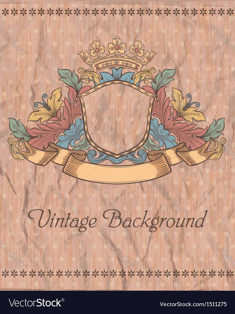 Emblem on the vintage background