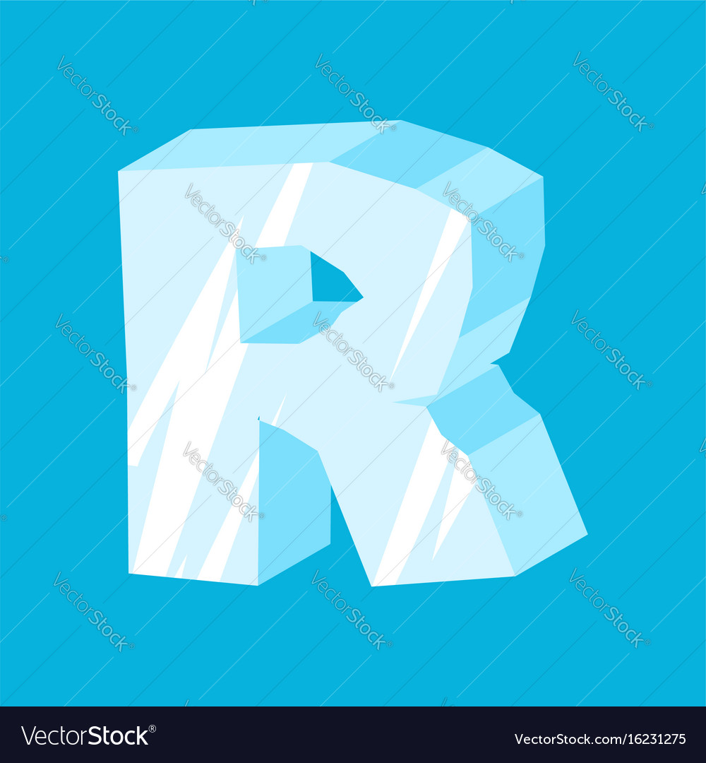 Letter r ice font icicles alphabet freeze