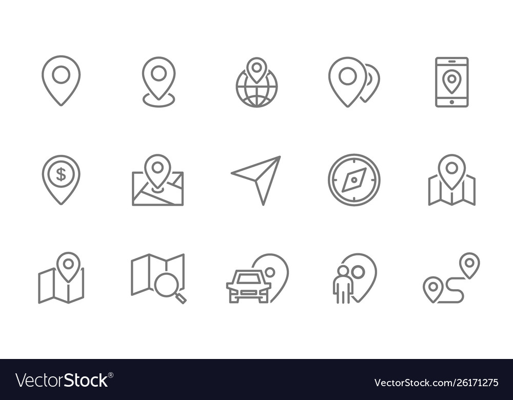 Set route and navigation line icons map