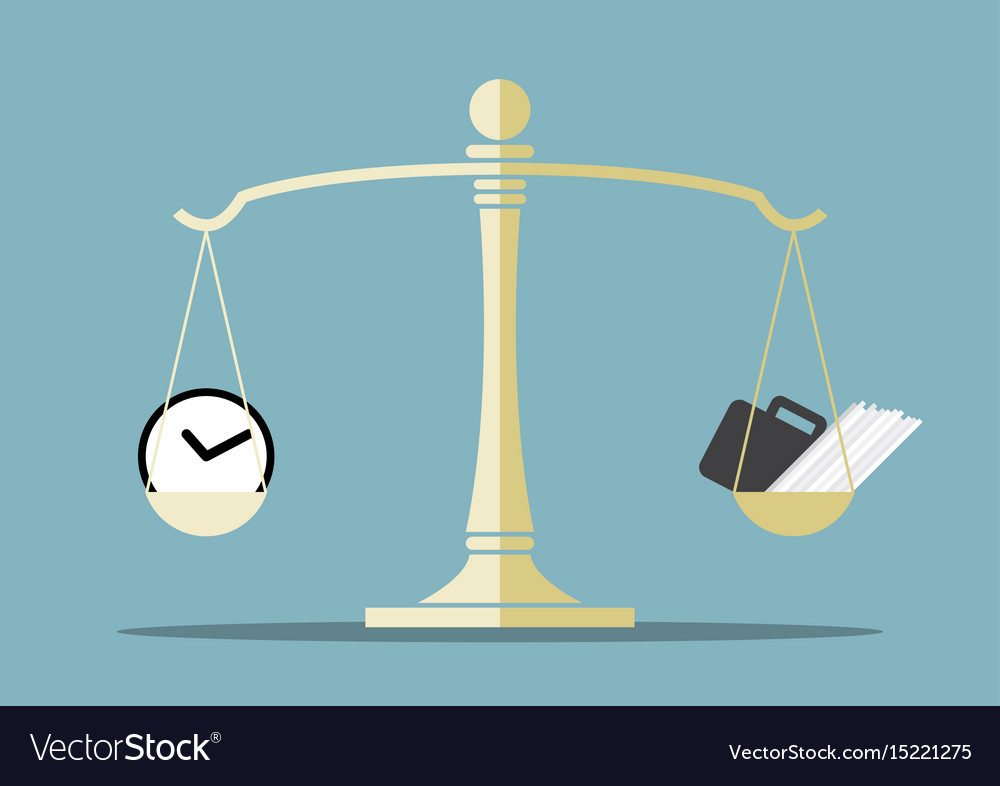 Time and work on balance scale