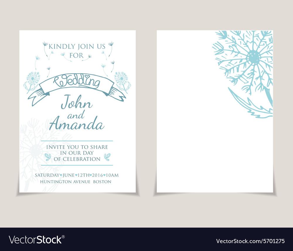 Wedding Invitation Card Templates With Hand Drawn