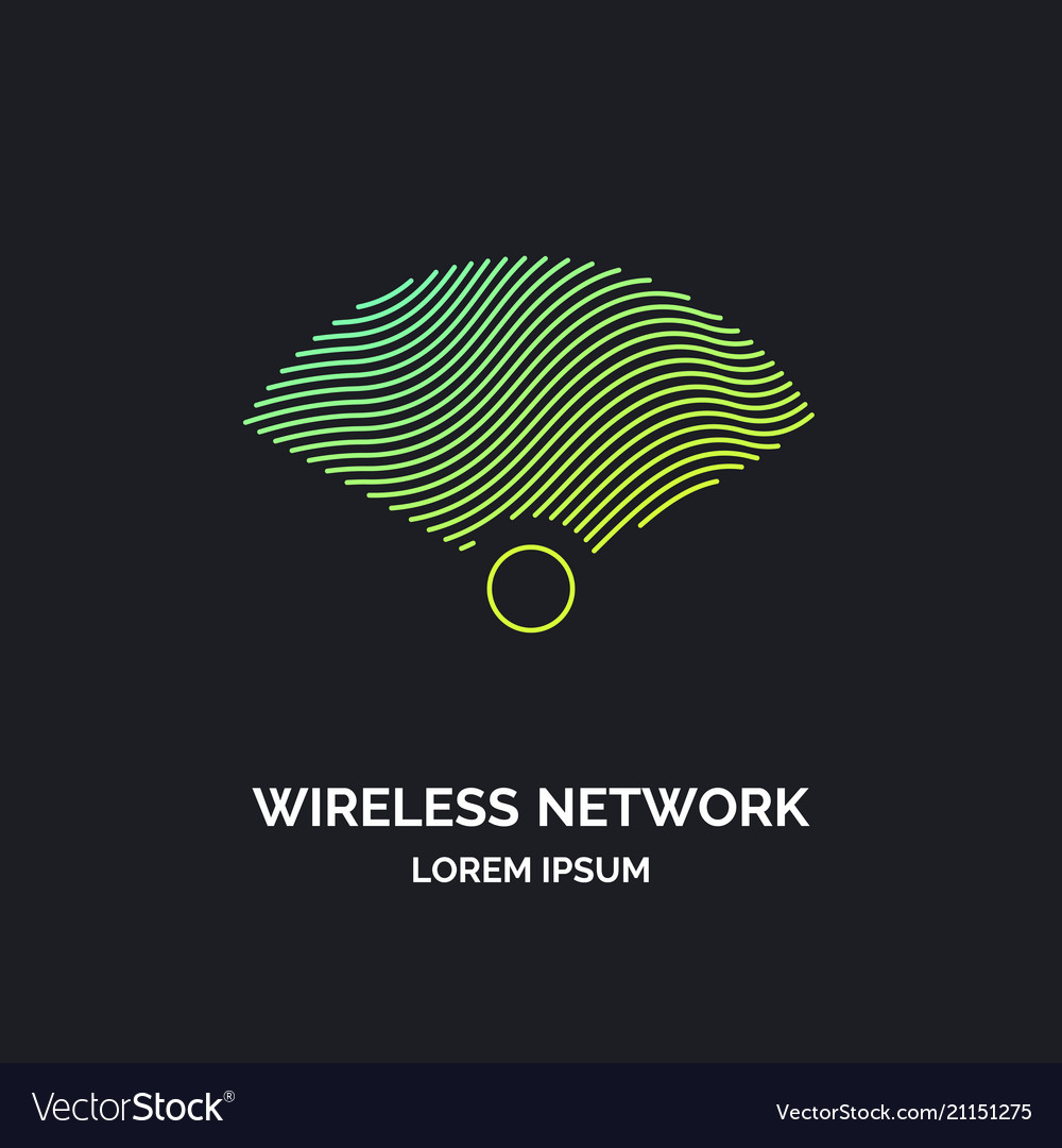 Wireless network sign on dark background
