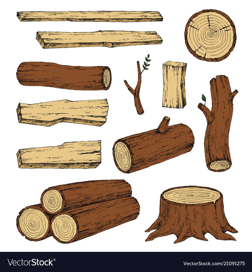 Wood burning materials sketch