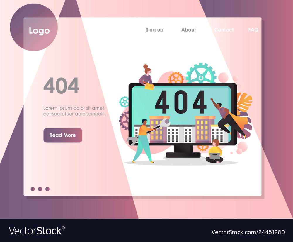 404 page not found error website landing