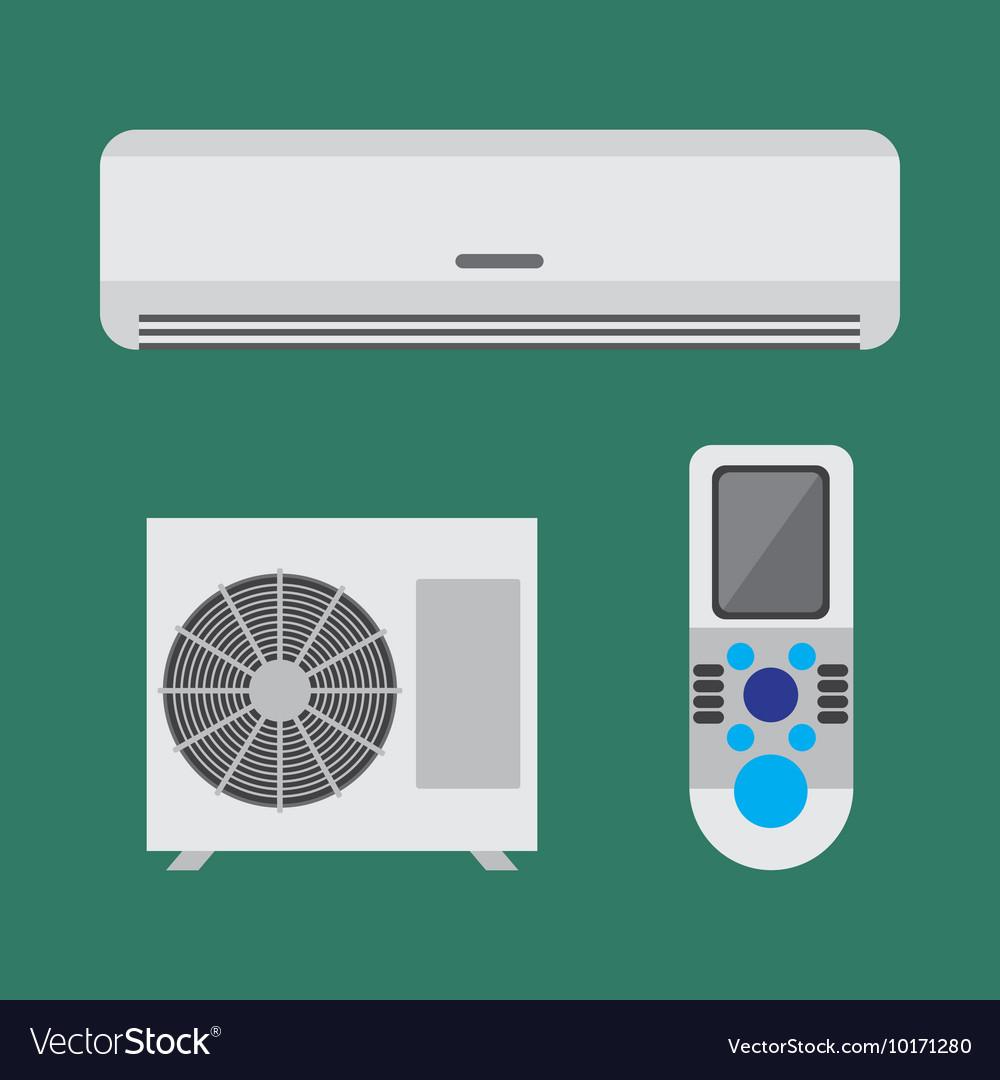 Air conditioner equipment set flat
