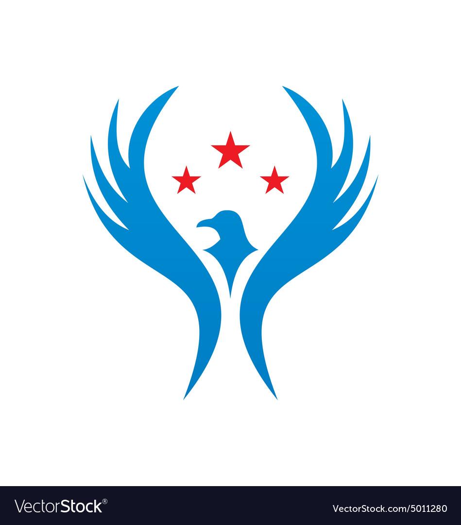 Bird fly american star logo royalty free vector image bird fly american star logo vector image m4hsunfo
