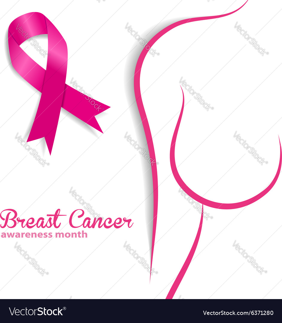 breast cancer royalty free vector image vectorstock rh vectorstock com breast cancer vectoriel breast cancer vector art