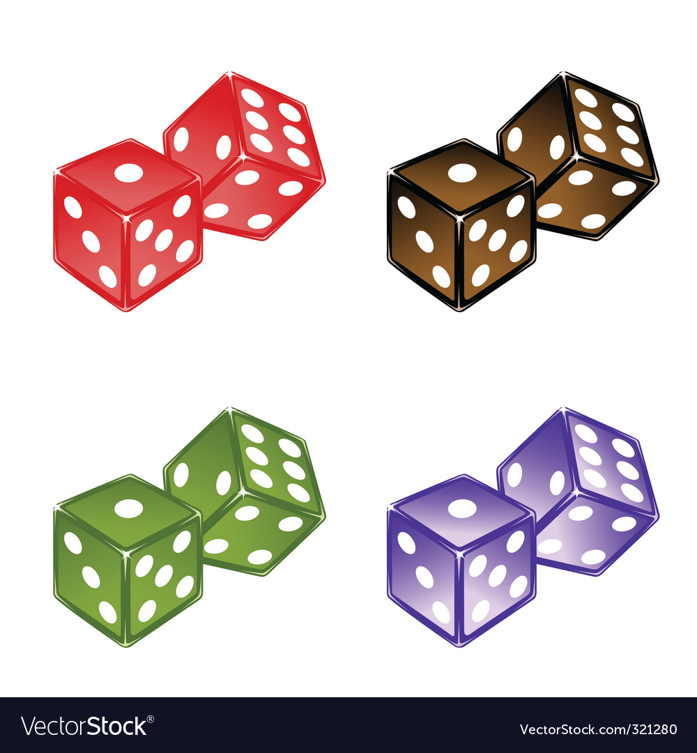 Dices set vector image