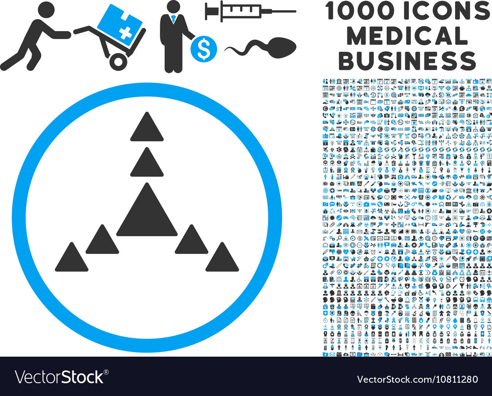 Direction Triangles Icon with 1000 Medical