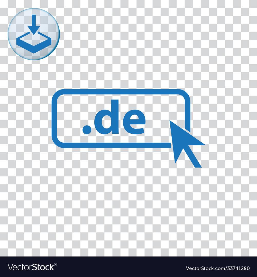 Domain de icon top-level internet