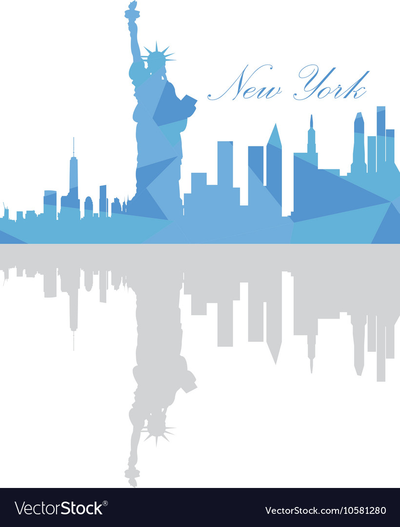 Isolated New York Skyline Royalty Free Vector Image