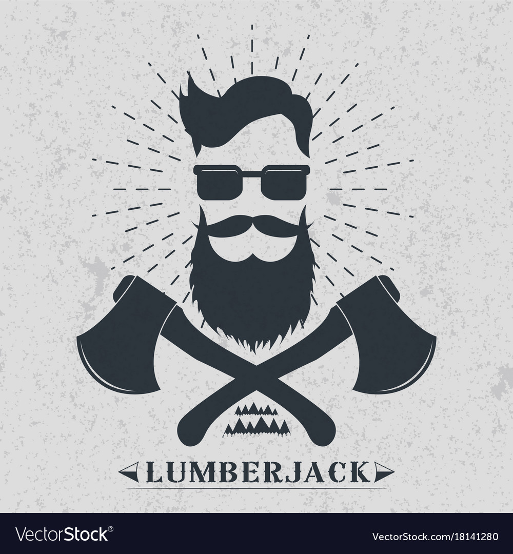 Lumberjack Label Logo T Shirt Design Royalty Free Vector
