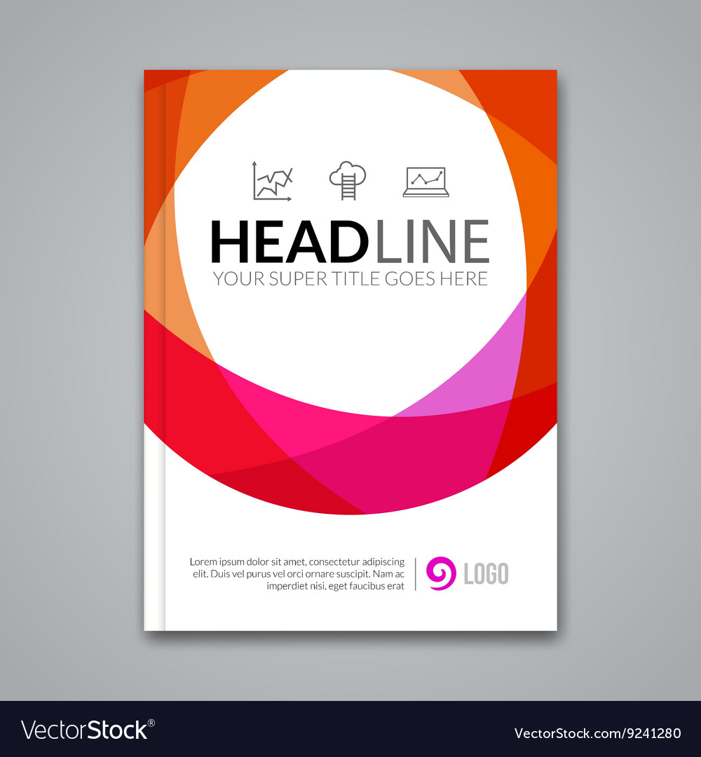 Modern simple colorful circle Template for vector image