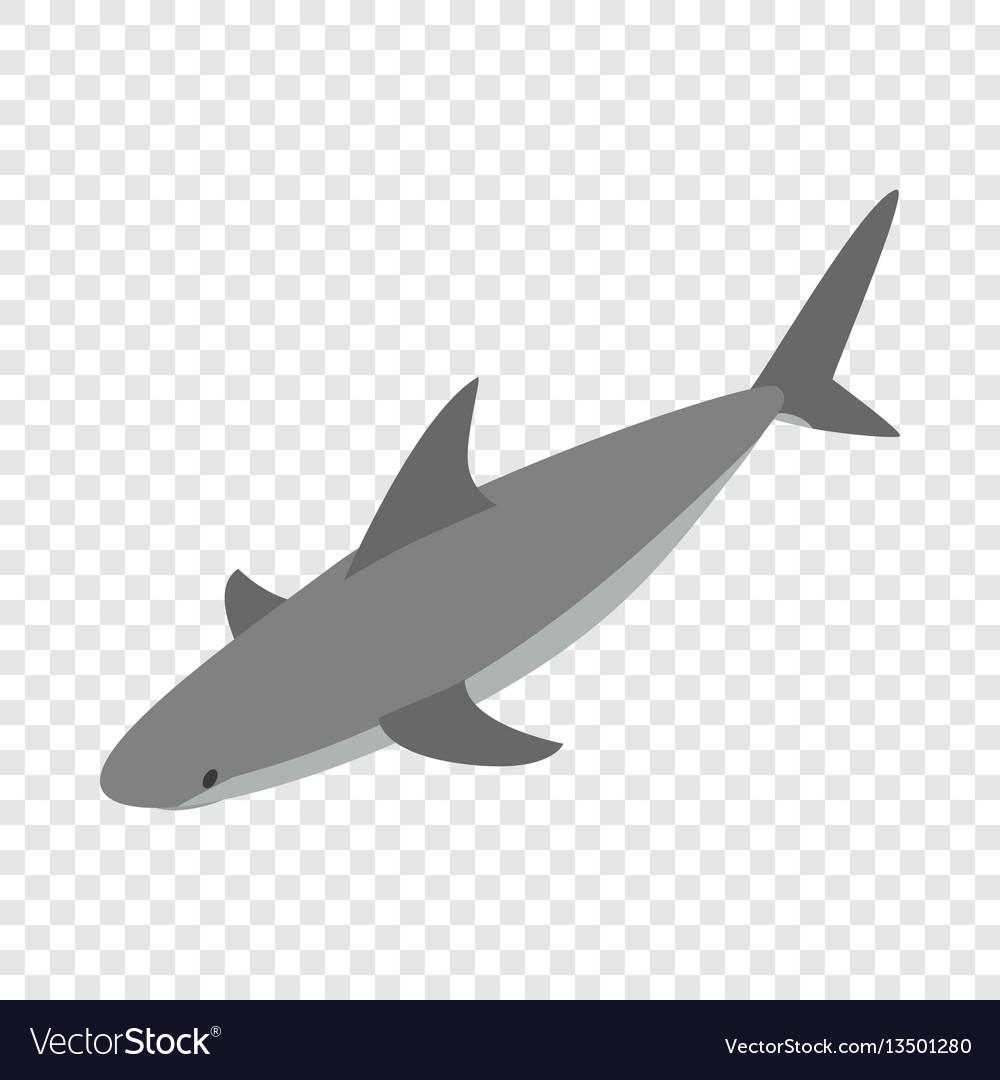 Shark isometric icon