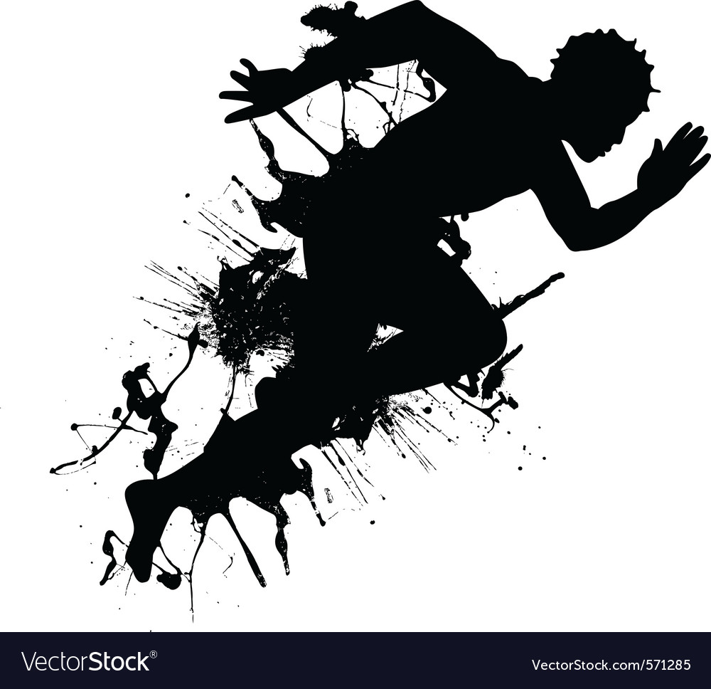 abstract runner royalty free vector image vectorstock rh vectorstock com runner vector free runner vector icon