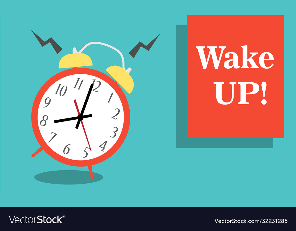 Alarm clock red wake-up time isolated on