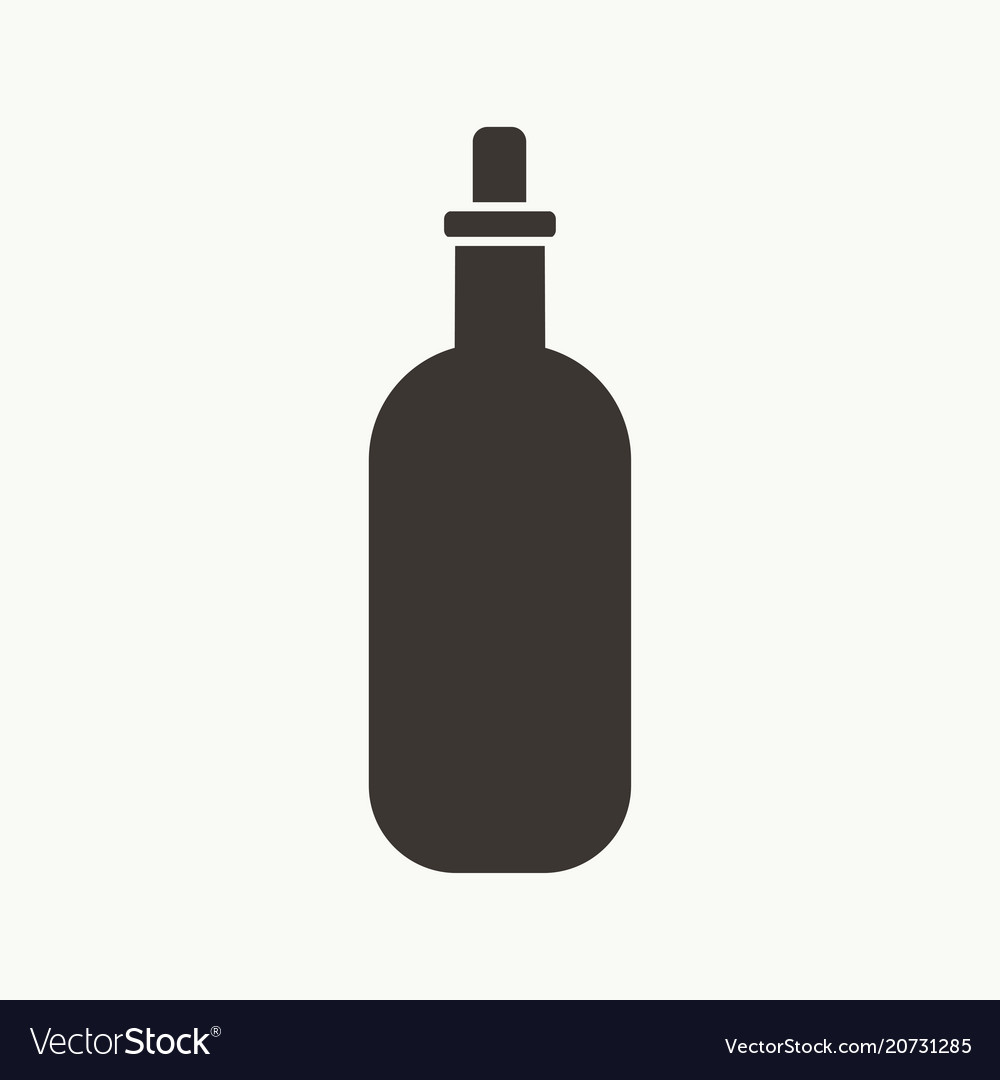 Bottle simple silhouette icon vector image