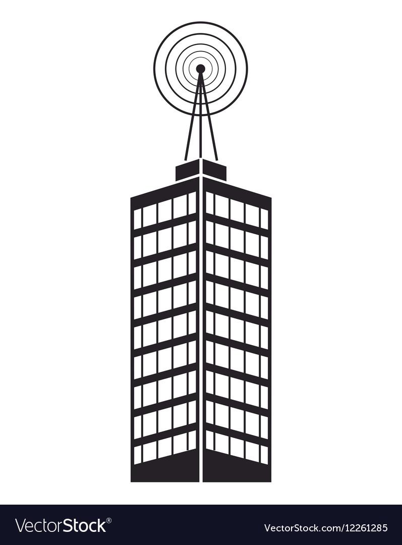 Building telecommunication mast television