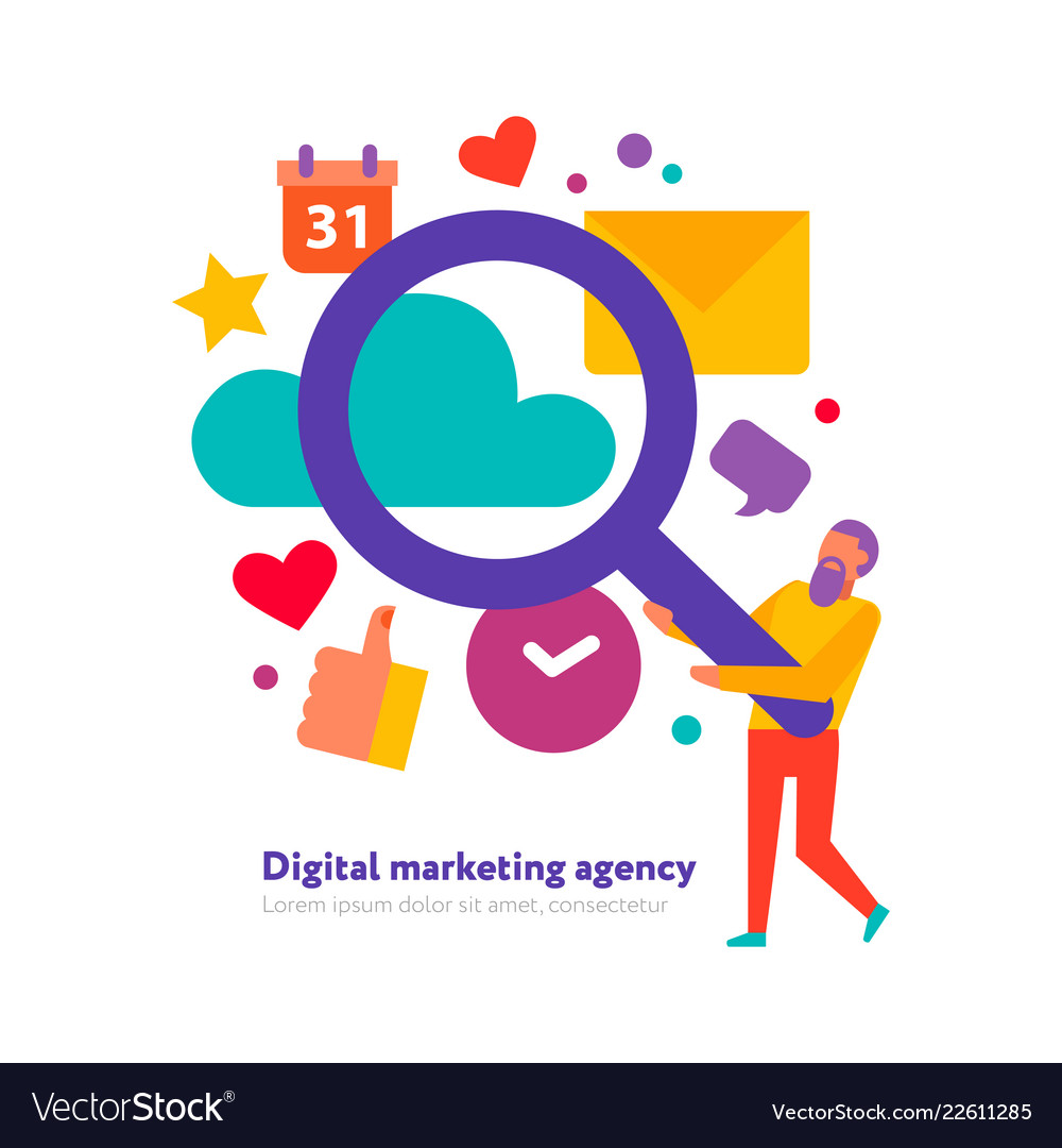 digital marketing agency royalty free vector image vectorstock