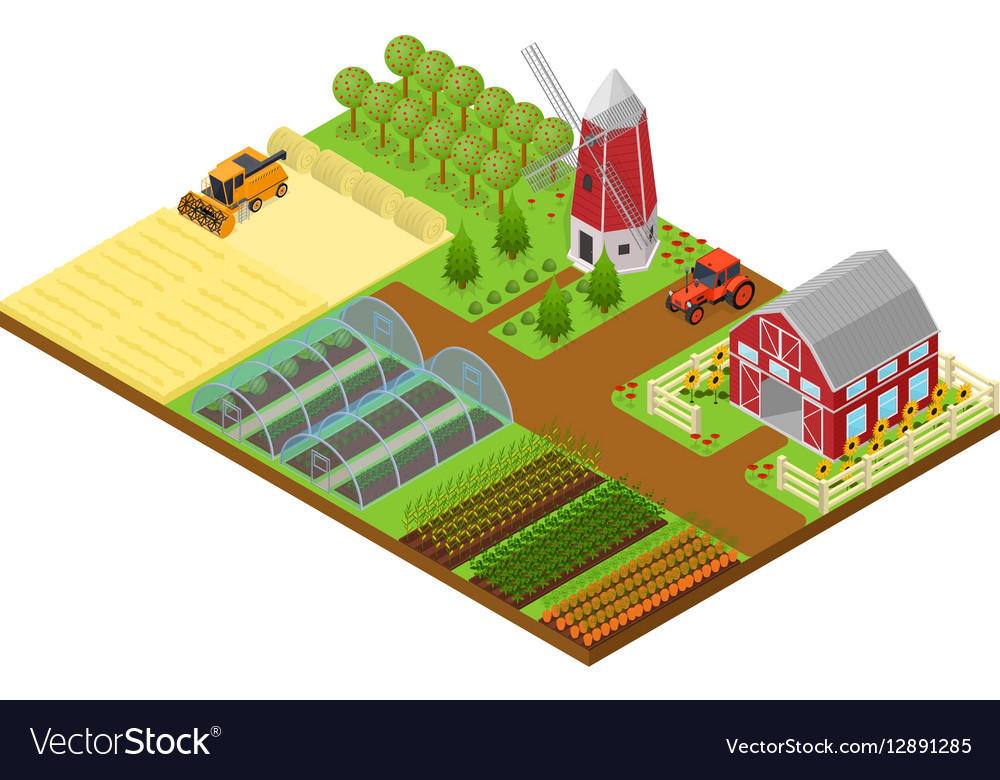 Farm Isometric View