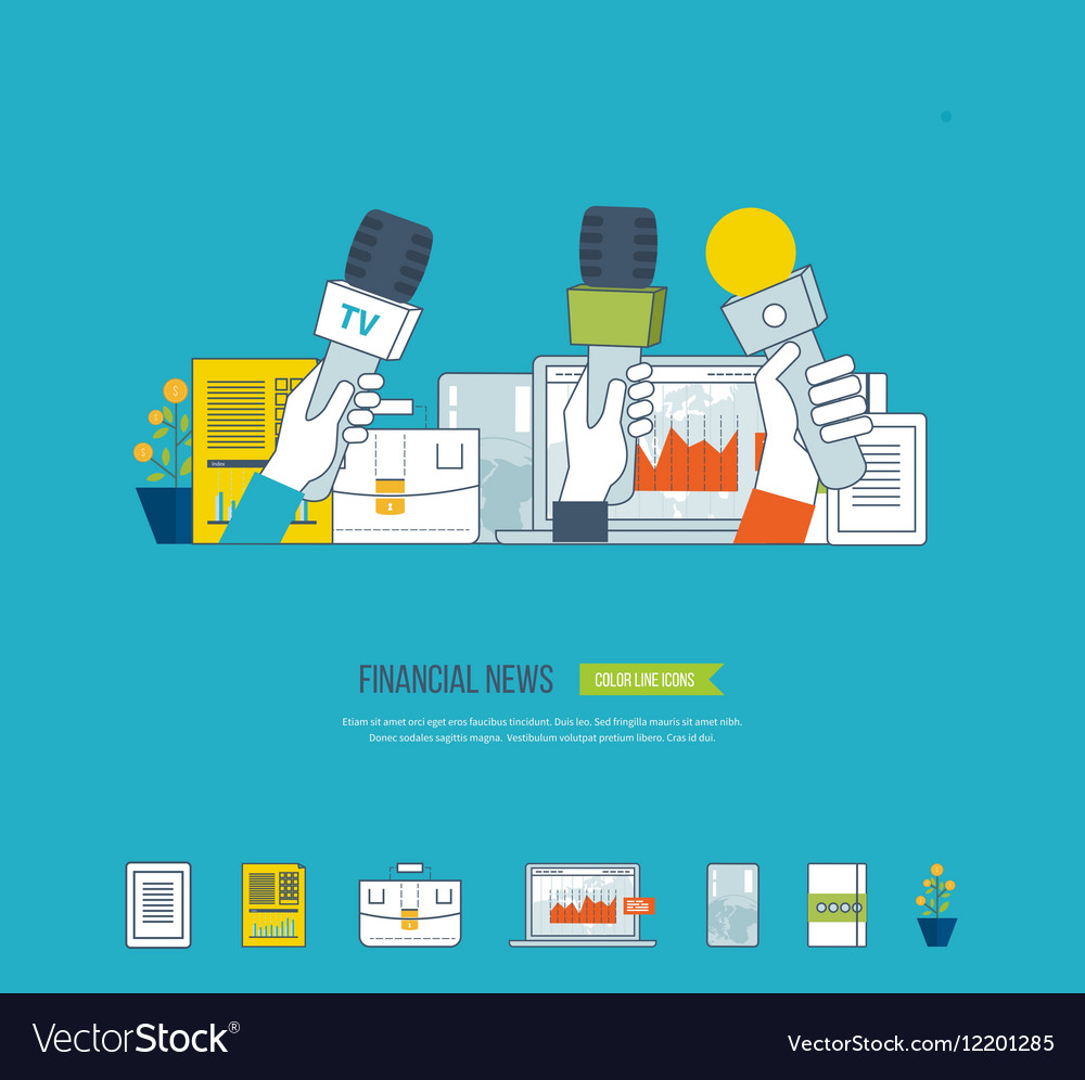 Financial news and strategy planning strategy vector image