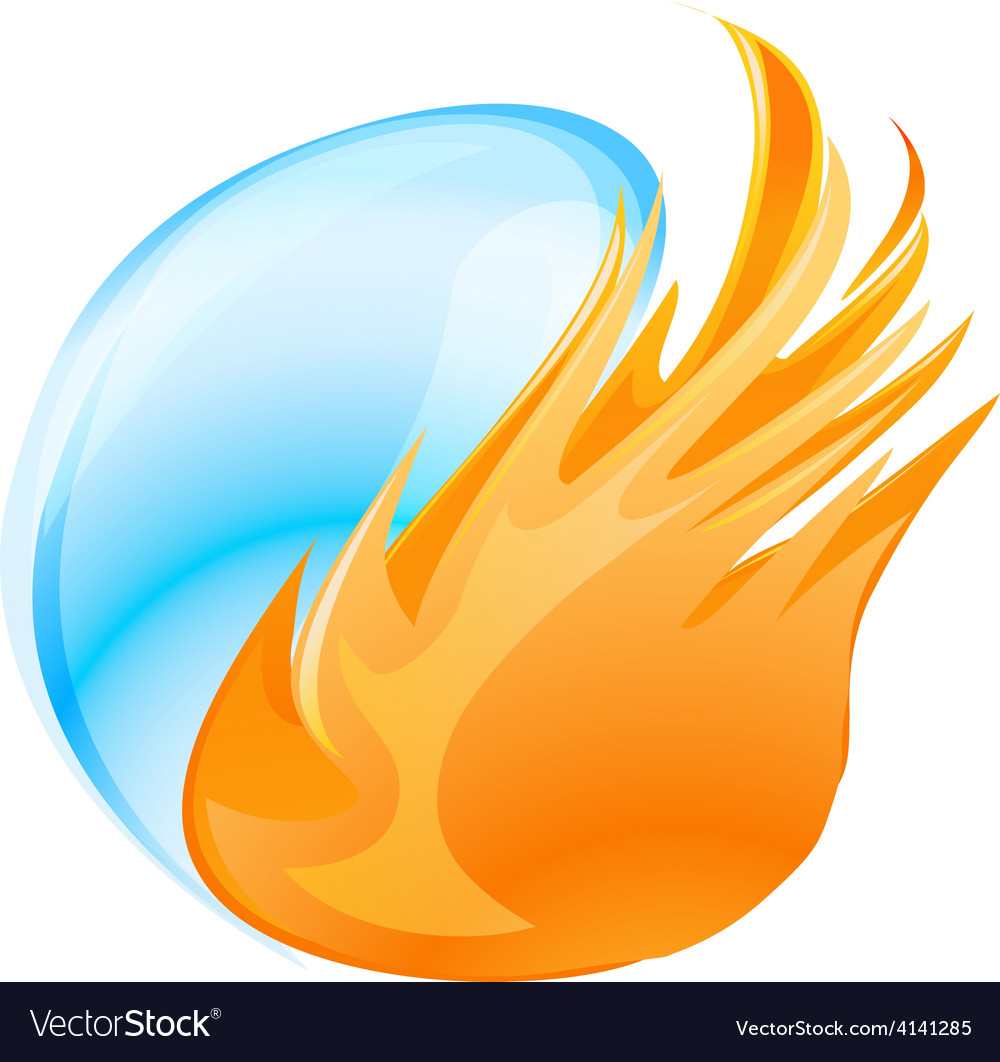 Fire water symbol