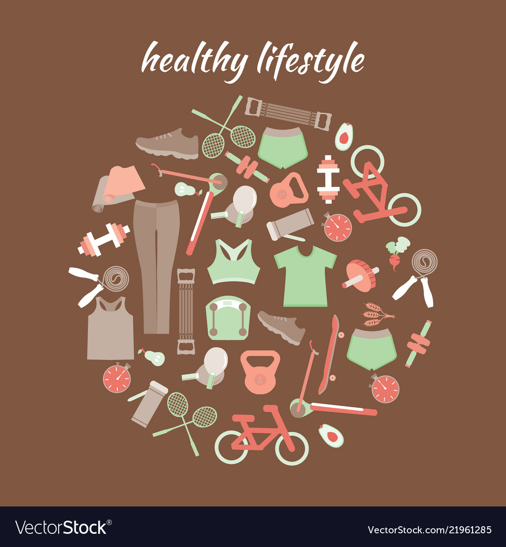 Healthy lifestyle sport fitness concept