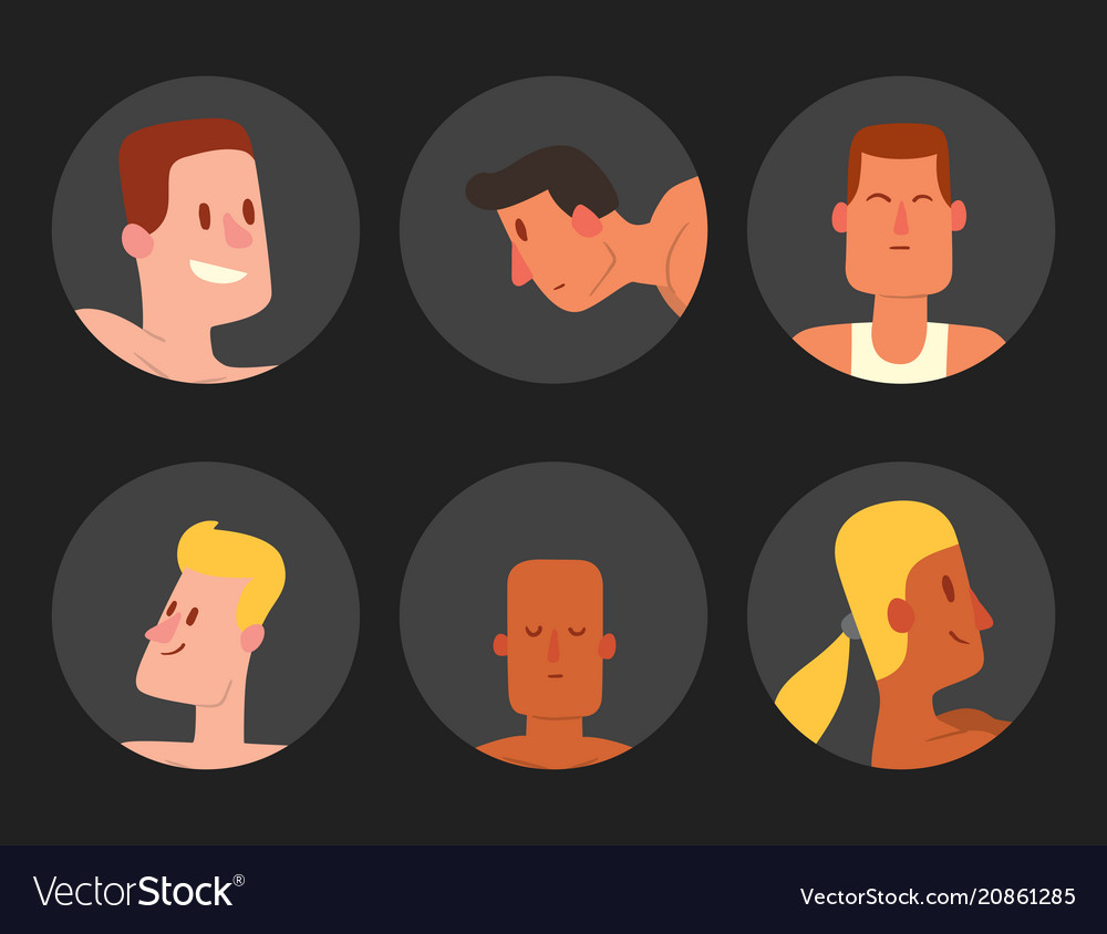 Man avatar character male face portrait